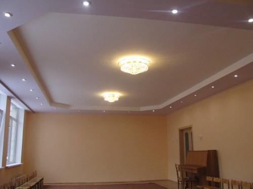 Натяжные потолки двухуровневые с подсветкой своими руками 664